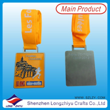 Frankreich Custom Design Medaille Sport Metal Running Medaillen der Ehre Award Rechteck Medaille
