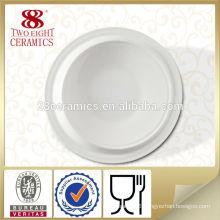 Ceramic plain white cheap porcelain serving plate real china dishes