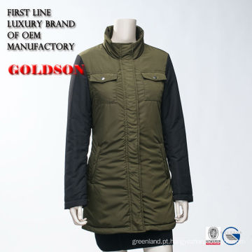 Revestimento de almofada elegante de primavera das meninas russas Casual Slim Fit Jacket