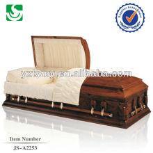 Cercueil en bois bon marché unique américain haut volume standard de livraison