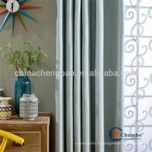 Plain dyed padrão pronto para cortinas para hotel