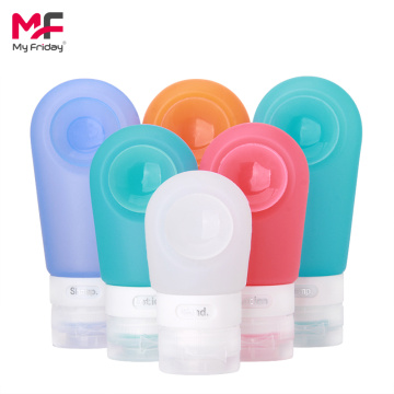 FDA BPA Gratis Shampoo Silicone Travel Tube Bottle