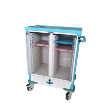 Hospital equipment nurse moveable patient record trolley case cart