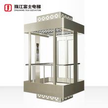 ZhuJiangFuji Brand Luxury Cabin Decoration Full View Glass Panoramic Elevator
