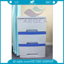 AG-BC001 Avec les cabinets médicaux utilisés en plastique ABS d'hôpital de 3-tiroir