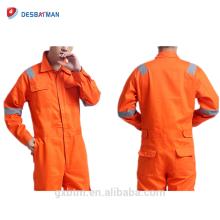 Utilité 65% Polyester 35% Coton Sergé Tissu Orange Protection Combinaison de Travail Pour La Construction Roadsafety Mechanic