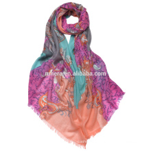 wholesale 100% cashmere scarf SCR0001unique Design inner Mongolia factory digital printed shawl