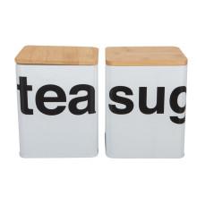 Juego de té de café, recipiente de almacenamiento de esmalte