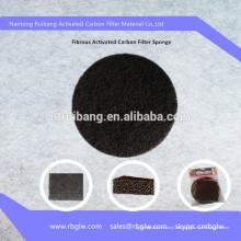 malla de filtro de carbón activado de tela de fibra de carbono