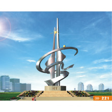 Modern Large Famous Stainless steel Arts Sculpture for Outdoor decoration