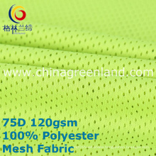 Polyester Weft Knitted Mesh Fabric for Textile Sportswear (GLLML389)