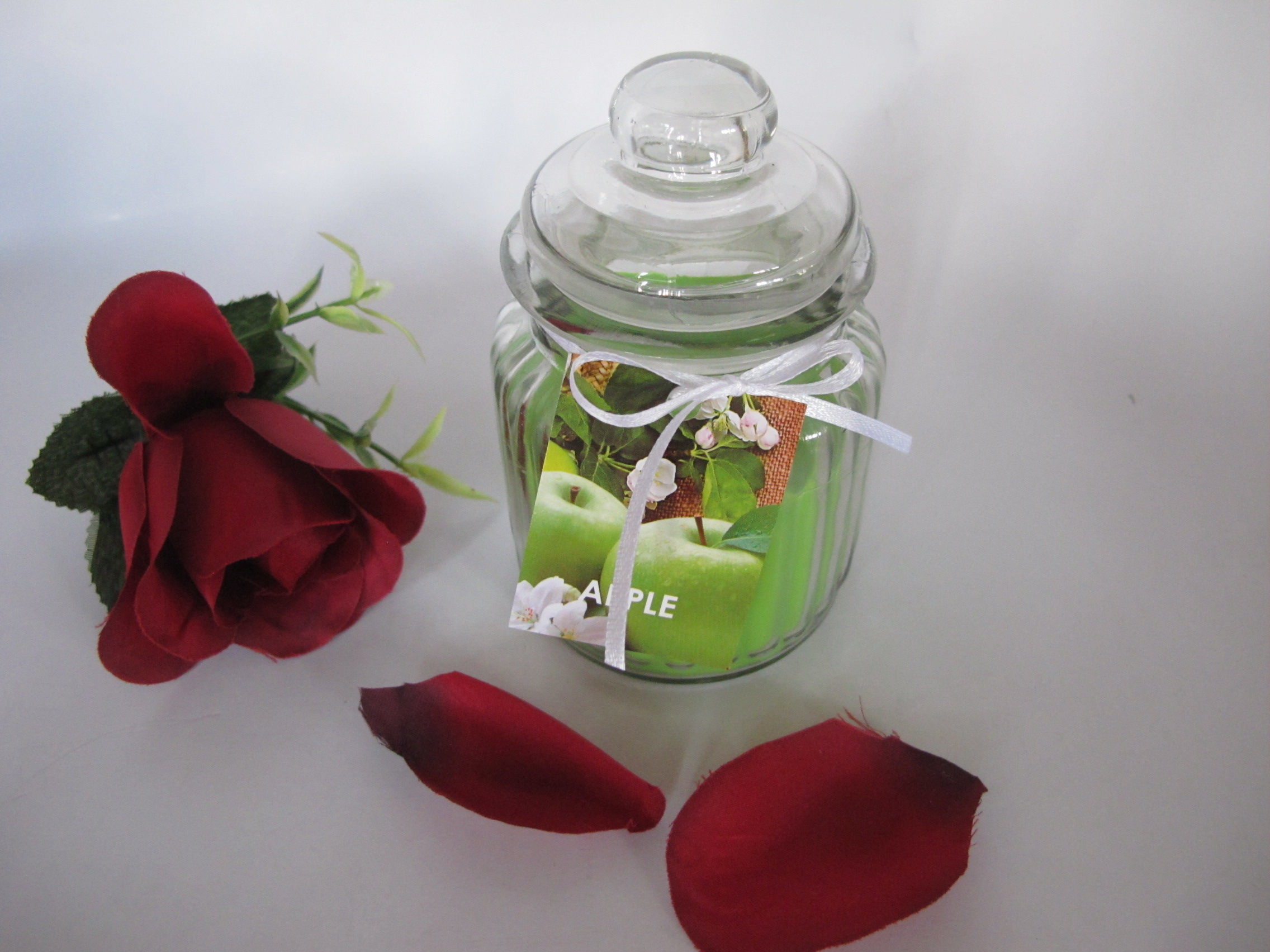 Scented Green Glass Jar Candles