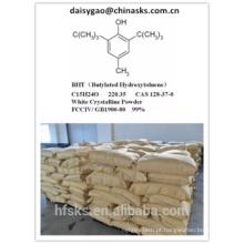 Venda quente Butylated Hydroxytoluene BHT 128-37-0 com preço do competidor