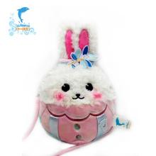 Bolsa de brinquedo educacional de pelúcia para coelho com design personalizado de fábrica