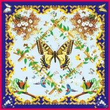 Impresión de seda digital de la bufanda de la última mariposa de la manera