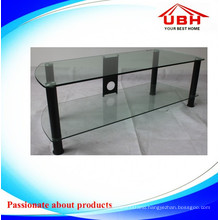 Clear Tempered Glass TV Display Stand