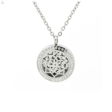 Stainless Steel Glass Crystal Perfume Aromatherapy Diffuser Pendant