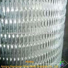 Silver burly aluminum foil mesh