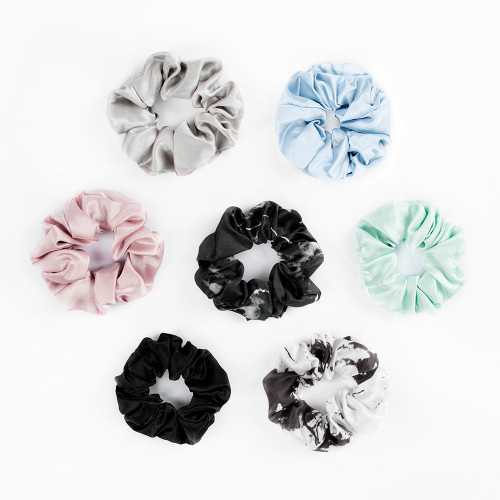 Eleganti Scrunchies in seta multicolor fatta a mano