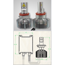 IP68 waterproof 30w 3600lm H4 H13 9004 9007 LED headlights