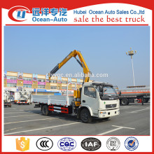Hot selling 4 Tons Dongfeng 4*2 dump truck with crane
