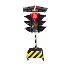 Solar 300mm Led Portable Traffic Signal light