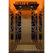 Residential Passenger Elevator with Titanium Gold Decoration