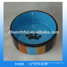 Tazón de fuente de cerámica encantador del alimento de perro de la venta caliente