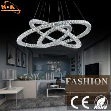 Three Crystal Round Rings LED Lights Dining Room Chandeliers