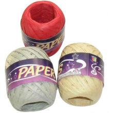 hilados de papel, carrete de papel de la cinta de la rafia carrete, cuerda de papel