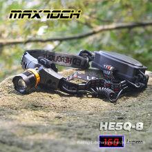 Lange Runtime18650 Maxtoch-HE5Q-8 Zoom LED-Scheinwerfer