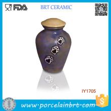 Hot Paw Print Nice-Regarder Céramique Pet Pet Jar