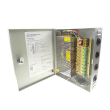 12V 15A 180W 9Channel CCTV Power Supply Box
