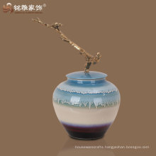 2016 new arrival lounge decorative colorful table vase with lid