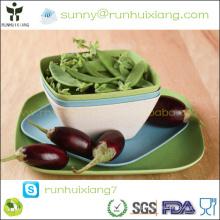 Bandeja quadrada da cozinha da fibra de bambu Eco-friendly