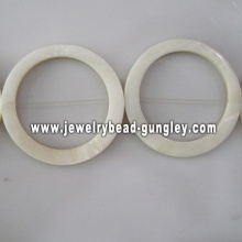 white donut shape fresh water shell beads