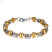 Bijoux à la mode 2018 Déclaration Black Gold Plating Bracelet Perles Hommes Bracelet