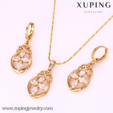 61791-Xuping Jóias Moda Banhado A Ouro Conjuntos De Jóias