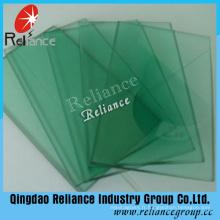 Verre flotté teinté de couleur verte avec de haute qualité