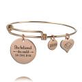 Custom Personalized Stainless Steel Positive Inspirational Adjustable Bracelet
