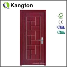 Porta revestida de PVC de design de madeira de qualidade superior (porta revestida de PVC)