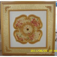 Plafonnier artistique décoratif en bourgogne et doré Bracade Dl-1114-11