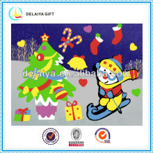 New design DIY Christmas EVA puzzle sticker toys for kids