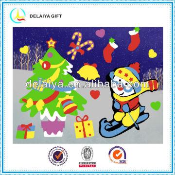 New design DIY Christmas EVA puzzle sticker toys for kids