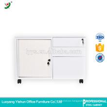 lower tambour door mobile pedestal cabinet with wheels