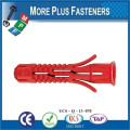 Made in Taiwan White Plastic Ribbed Anchors Conical Universal Long Plastic Anchor