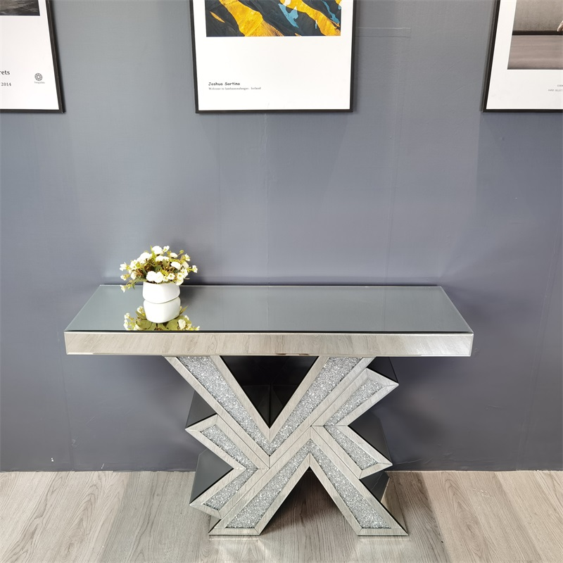 crystal mirrored glass console table MDF table