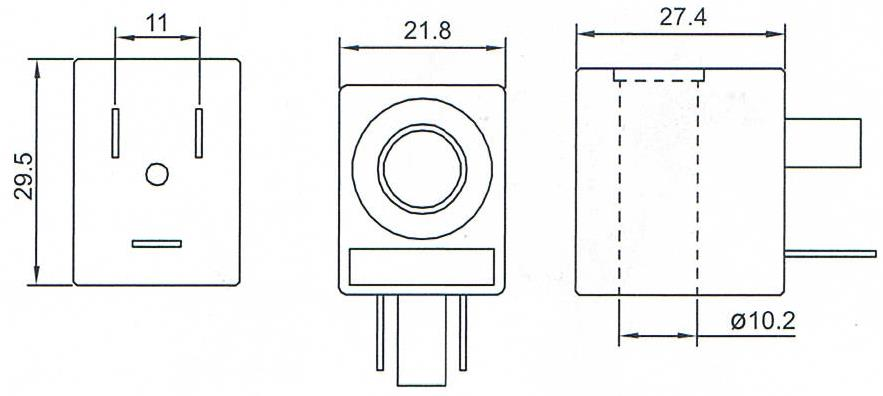 Dimension of BB10029502 Solenoid Coil: