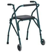 Walker pliable en aluminium avec siège sur le dessus