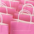 Rosa Karton oder fertigen Pakete-Aufkleber-Druckförderungs-Geschenk-Einkaufspapierbeutel besonders an